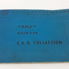 CARTE TEHNICĂ ROMAN DIESEL R.8. 135 F/FA* TEXT LIMBA ENGLEZĂ ȘI FRANCEZĂ