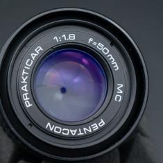 Obiectiv manual filmari Pentacon 50mm 1.8 montura Canon EOS - Obiectiv DSLR Canon, All around, Manual focus, Canon - EF/EF-S