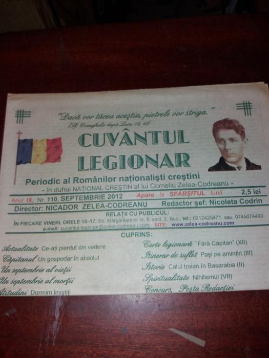 CUVANTUL LEGIONAR SEPTEMBRIE 2012