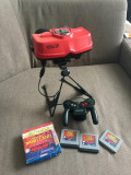 Vand consola retro Nintendo Virtual Boy cu 3 casete