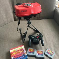 Vand consola retro Nintendo Virtual Boy cu 3 casete - Consola Nintendo