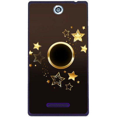 Husa Goldy Star Sony Xperia C C2305 foto