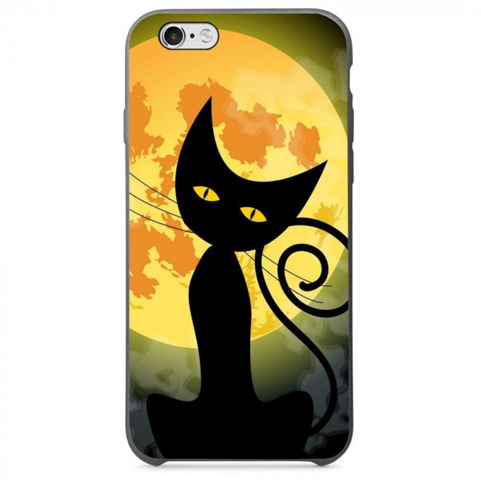 Husa Black Cat Full Monn Halloween APPLE Iphone 5s foto mare