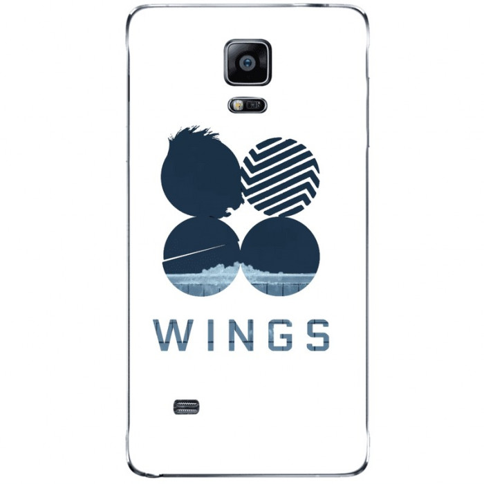 Husa Blue Wings SAMSUNG Galaxy Note 4 foto mare