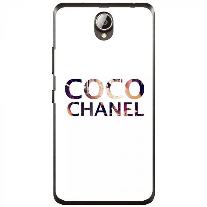 Husa Coco Chanel Background Lenovo A5000 foto mare