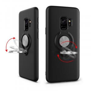 Husa antisoc, cu magnet si inel pentru Samsung Galaxy  S9 / S9 plus / S10e