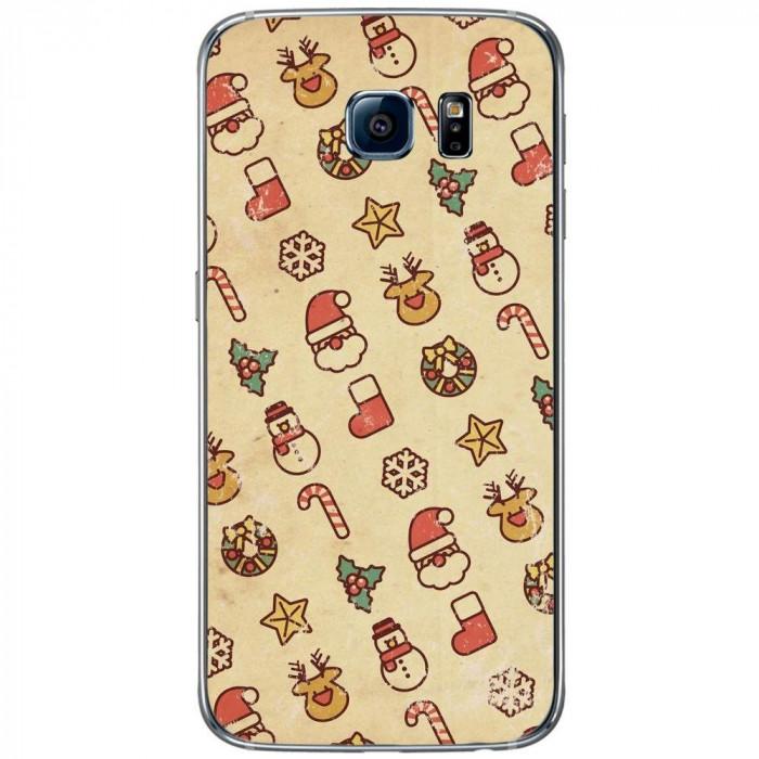 Husa Christmas Drawing SAMSUNG Galaxy S6 foto mare