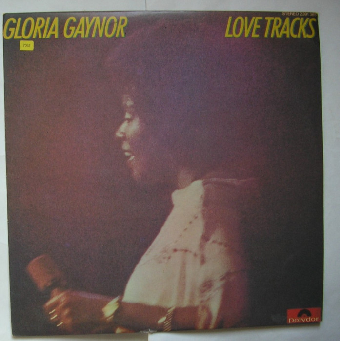 Gloria Gaynor - Love Tracks - Disc vinil, vinyl LP, Polydor India foto mare