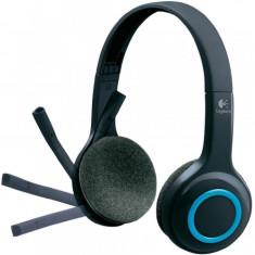 Casti audio Logitech H600, Fara fir, USB Nano receiver, Microfon, Negru/Albastru - Casca PC