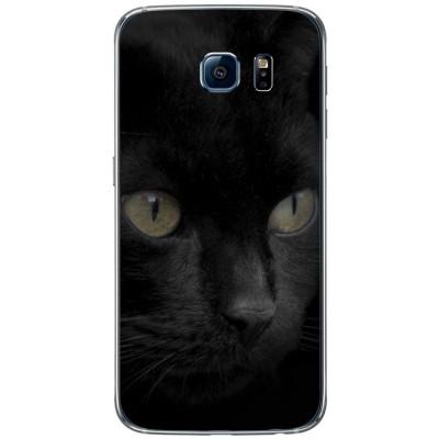 Husa Black Cat Face SAMSUNG Galaxy S6 foto