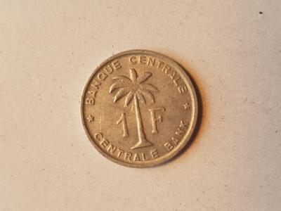 9 CONGO BELGIAN 1 FRANC 1958 foto
