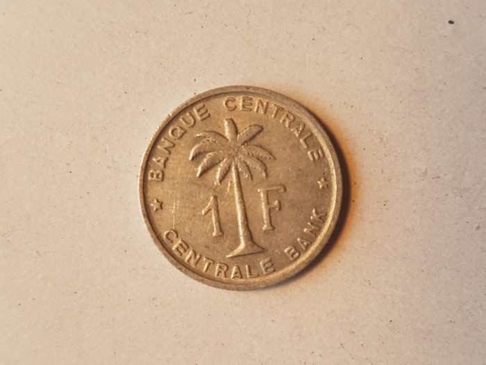 9 CONGO BELGIAN 1 FRANC 1958 foto mare