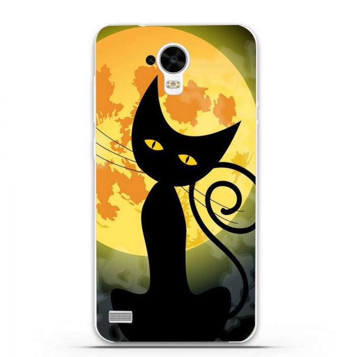 Husa Black Cat Full Monn Halloween HUAWEI Ascend Y5 Y560 foto mare