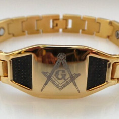 Bratara simboluri masonice - Gold and Carbon