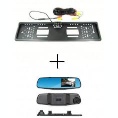Oglinda DVR cu Display 4 inch video trafic + Suport numar cu Camera Marsarier
