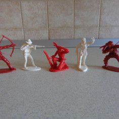 Lot figurine de colectie vechi cowboy si indieni