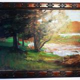 Tablou autentic Alexandru Satmary, Peisaje, Ulei, Impresionism