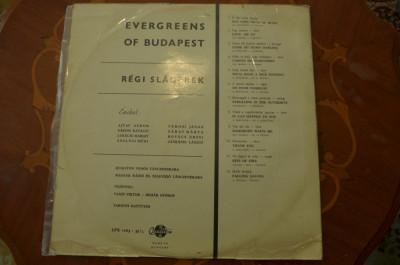 Disc vinil  Various – Evergreen Melodies (Régi Slágerek)   Qualiton – LPX 7263 foto