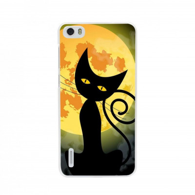 Husa Black Cat Full Monn Halloween HUAWEI Ascend G7 foto