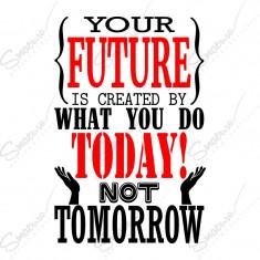 Sticker - Motivational - The Future * Multicolor *