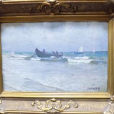 PESCARI PE MARE - D. FLORIAN - Pictor roman