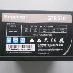 Sursa PC 550 W Segotep GTR-550 2 x 8 pin pci ex., 550 Watt