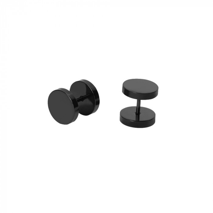 Cercei barbell barbati negri 6 ,,10,12,14  mm