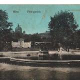 CPI B 10252 CARTE POST - WIEN, VIENA. WOLKSGARTEN. ED VERLAG BRUDER KANTOR, 1911, Circulata, Fotografie