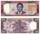 LIBERIA 50 dollars 2011 UNC!!!