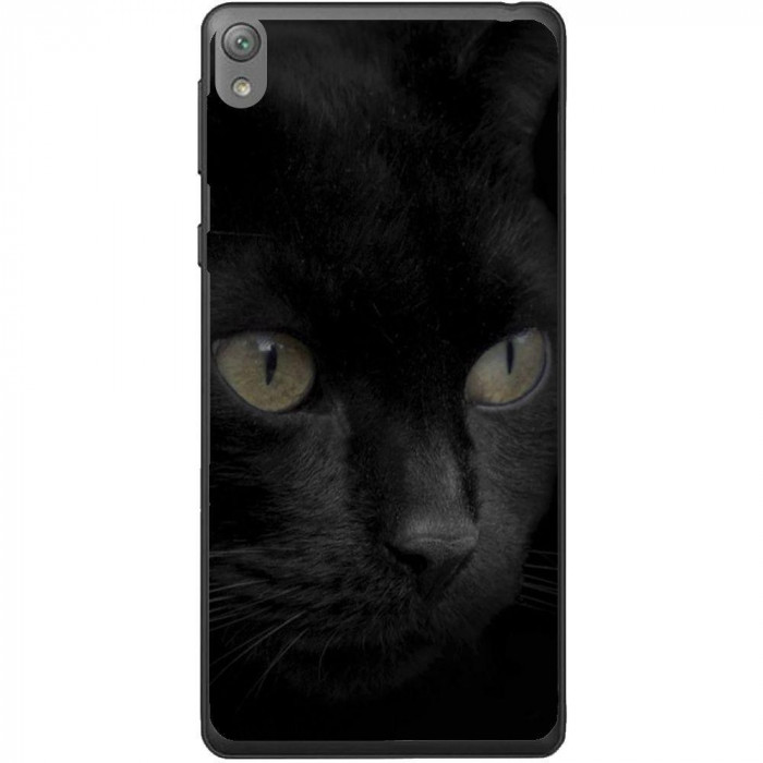 Husa Black Cat Face Sony Xperia E5