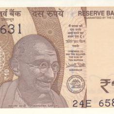 Bancnota India 10 Rupii 2017 - PNew UNC - bancnota asia