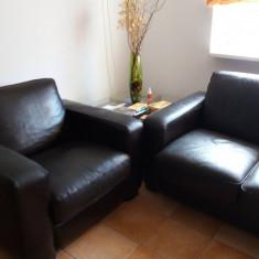 Canapea si fotolii piele MOBEXPERT POLO Maro