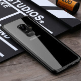 Husa Samsung S9, ultrasubtire, protectiva, transparent si negru, gd587, Alt model telefon Samsung