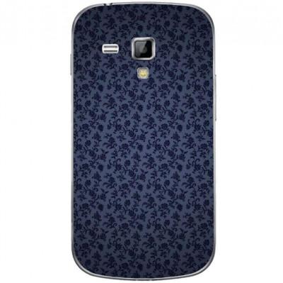 Husa Darck Blue Swirls Flowers Pattern SAMSUNG Galaxy S Duos foto