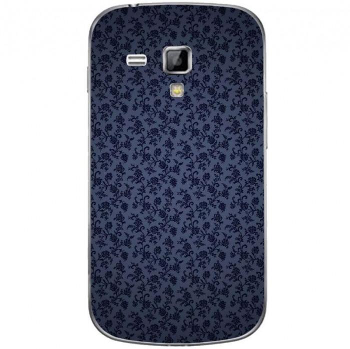 Husa Darck Blue Swirls Flowers Pattern SAMSUNG Galaxy S Duos foto mare