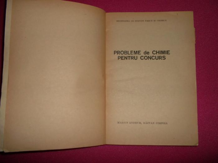 Probleme de chimie pentru concurs/ marius andruh/1978 foto mare