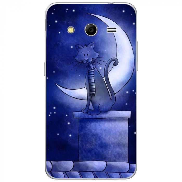 Husa Blue Cat And The Moon SAMSUNG Galaxy Core 2