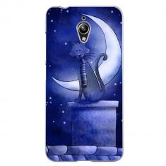 Husa Blue Cat And The Moon ASUS Zenfone Go 5 Zc500tg
