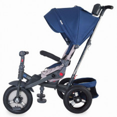 Tricicleta multifunctionala Corso albastru - Tricicleta copii Coccolle