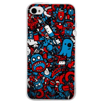 Husa Doodle Bomb APPLE Iphone 4s foto