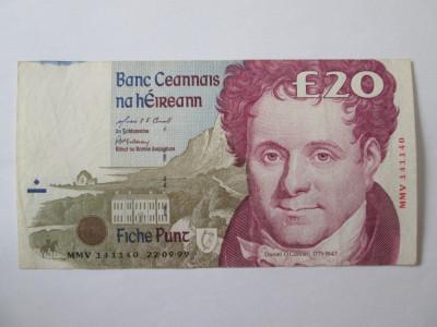 Rara! Irlanda 20 Pounds 1999 foto