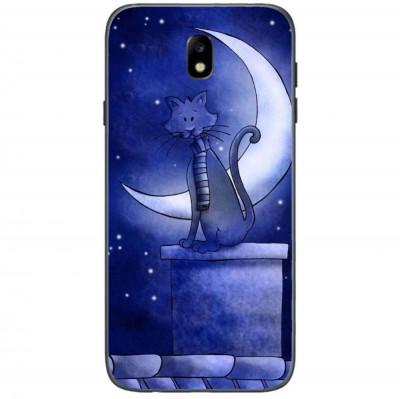 Husa Blue Cat And The Moon SAMSUNG Galaxy J3 2017 foto