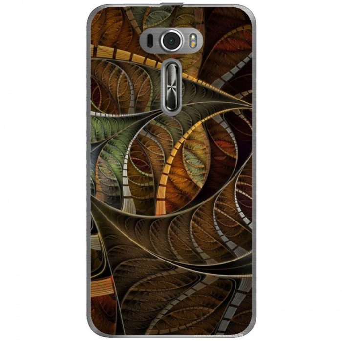 Husa Abstract Brown Illusion Pattern Asus Zenfone 2 Laser Ze601kl foto mare