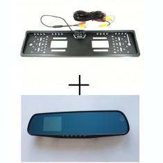 Oglinda DVR cu Display 2.8 inch video trafic + Suport numar cu Camera Marsarier