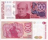 ARGENTINA 100 australes ND 1985-90 UNC!!!