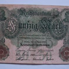 Bancnota 50 mark 1910 - Germania - bancnota europa