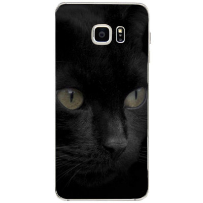 Husa Black Cat Face SAMSUNG Galaxy S6 Edge Plus foto