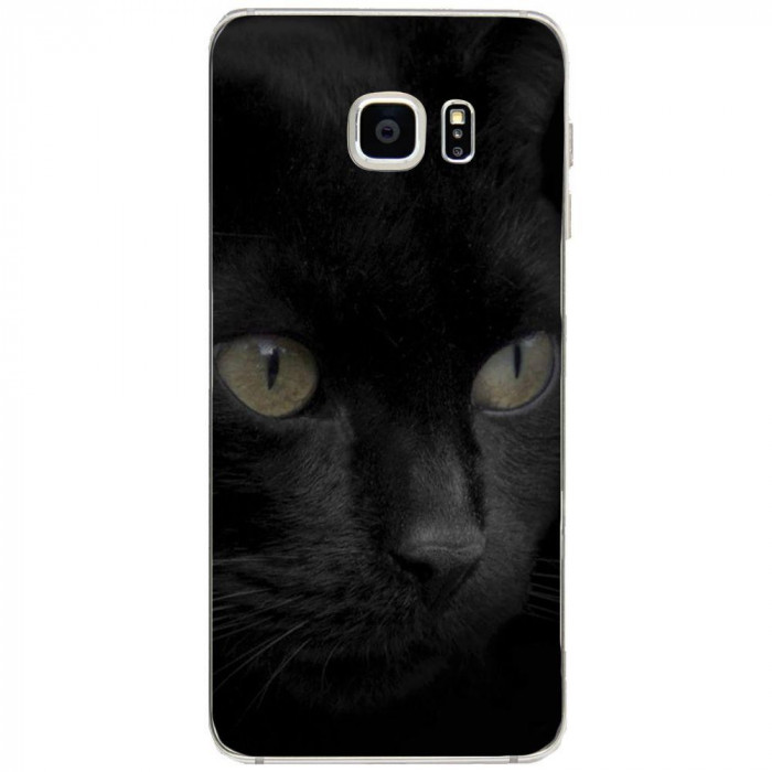Husa Black Cat Face SAMSUNG Galaxy S6 Edge Plus foto mare