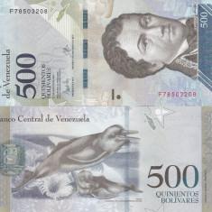 VENEZUELA 500 bolivares 23 martie 2017 UNC!!!