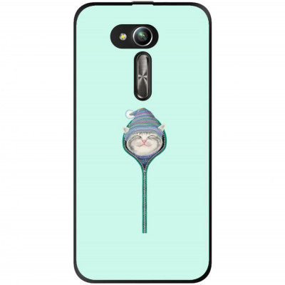 Husa Cute Smiling Cat Zipper Hat Asus Zenfone Go Zb500kg foto